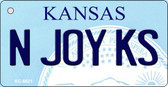 N Joy KS Kansas State License Plate Novelty Wholesale Key Chain KC-6621