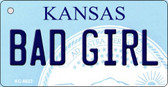 Bad Girl Kansas State License Plate Novelty Wholesale Key Chain KC-6622