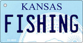 Fishing Kansas State License Plate Novelty Wholesale Key Chain KC-6632