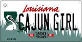 Cajun Girl Louisiana State License Plate Novelty Wholesale Key Chain KC-6183