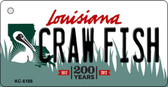 Craw Fish Louisiana State License Plate Novelty Wholesale Key Chain KC-6186