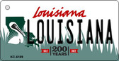 Louisiana Louisiana State License Plate Novelty Wholesale Key Chain KC-6189