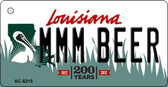 MMM Beer Louisiana State License Plate Novelty Wholesale Key Chain KC-6215