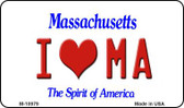 I Love MA Massachusetts State License Plate Wholesale Magnet M-10979