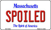 Spoiled Massachusetts State License Plate Wholesale Magnet M-11002