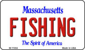 Fishing Massachusetts State License Plate Wholesale Magnet M-11004