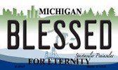 Blessed Michigan State License Plate Novelty Wholesale Magnet M-2807