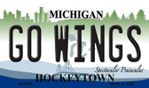 Go Wings Michigan State License Plate Novelty Wholesale Magnet M-2809