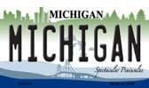 Michigan State License Plate Novelty Wholesale Magnet M-6105
