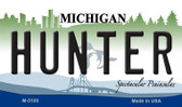 Hunter Michigan State License Plate Novelty Wholesale Magnet M-5100