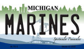 Marines Michigan State License Plate Novelty Wholesale Magnet M-7914