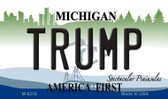Trump Michigan State License Plate Novelty Wholesale Magnet M-8219