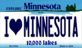 I Love Minnesota State License Plate Novelty Wholesale Magnet M-11034