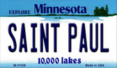 Saint Paul Minnesota State License Plate Novelty Wholesale Magnet M-11038