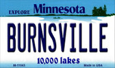 Burnsville Minnesota State License Plate Novelty Wholesale Magnet M-11043