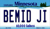 Bemid Ji Minnesota State License Plate Novelty Wholesale Magnet M-11044