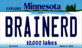 Brainerd Minnesota State License Plate Novelty Wholesale Magnet M-11045