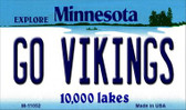 Go Vikings Minnesota State License Plate Novelty Wholesale Magnet M-11052