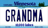 Grandma Minnesota State License Plate Novelty Wholesale Magnet M-11058