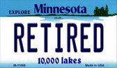 Retired Minnesota State License Plate Novelty Wholesale Magnet M-11060