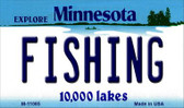 Fishing Minnesota State License Plate Novelty Wholesale Magnet M-11065