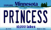 Princess Minnesota State License Plate Novelty Wholesale Magnet M-11072