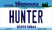 Hunter Minnesota State License Plate Novelty Wholesale Magnet M-11076