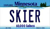 Skier Minnesota State License Plate Novelty Wholesale Magnet M-11082
