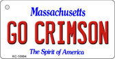 Go Crimson Massachusetts State License Plate Wholesale Key Chain KC-10994
