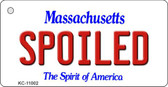 Spoiled Massachusetts State License Plate Wholesale Key Chain KC-11002