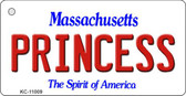 Princess Massachusetts State License Plate Wholesale Key Chain KC-11009