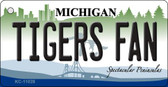 Tigers Fan Michigan State License Plate Novelty Wholesale Key Chain KC-11028