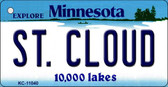 St Cloud Minnesota State License Plate Novelty Wholesale Key Chain KC-11040