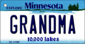 Grandma Minnesota State License Plate Novelty Wholesale Key Chain KC-11058