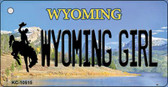 Wyoming Girl State License Plate Wholesale Key Chain