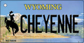 Cheyenne Wyoming State License Plate Wholesale Key Chain