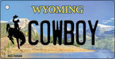 Cowboy Wyoming State License Plate Wholesale Key Chain