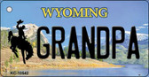 Grandpa Wyoming State License Plate Wholesale Key Chain