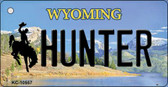 Hunter Wyoming State License Plate Wholesale Key Chain