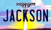 Jackson Mississippi State License Plate Wholesale Magnet M-6555
