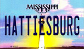 Hattiesburg Mississippi State License Plate Wholesale Magnet M-6557