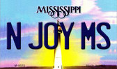 N Joy MS Mississippi State License Plate Wholesale Magnet M-6575
