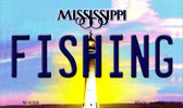 Fishing Mississippi State License Plate Wholesale Magnet M-6586
