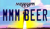 MMM Beer Mississippi State License Plate Wholesale Magnet M-6594