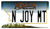 N Joy MT Montana State License Plate Novelty Wholesale Magnet M-11087