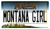 Montana Girl State License Plate Novelty Wholesale Magnet M-11088