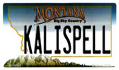 Kalispell Montana State License Plate Novelty Wholesale Magnet M-11095