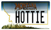 Hottie Montana State License Plate Novelty Wholesale Magnet M-11102