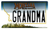Grandma Montana State License Plate Novelty Wholesale Magnet M-11103