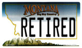 Retired Montana State License Plate Novelty Wholesale Magnet M-11105